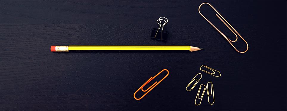 Illustrasjonsbilde - blyant og binders