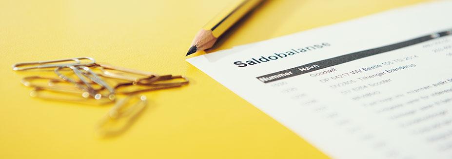 Illustrasjonsbilde med saldobalanse og binders