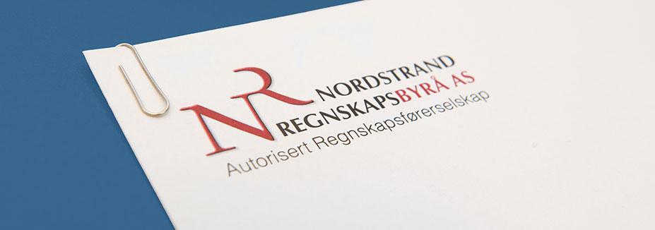 Illustrasjonsbilde med logo til Nordstrand Regnskapsbyrå